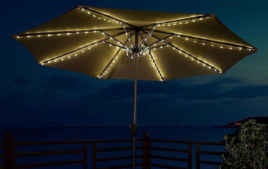 7 Best Umbrella Lights to Brighten Up Your Patio or Backyard