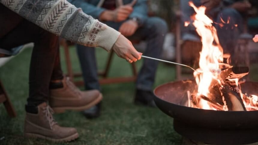 Outdoor Fire Pit On Grass - Keep Your Lawn Fresh and Green